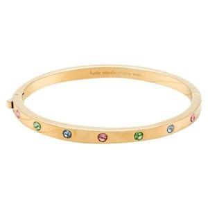NIB Kate Spade Set In Stone GP Bracelet w/Crystals